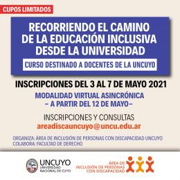 CURSO VIRTUAL: Recorriendo el camino de la educación inclusiva desde la Universidad